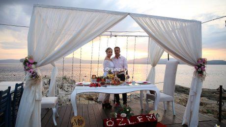 Seferihisar Kumsalda Evlilik Teklifi Organizasyonu