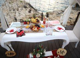 Evlenme teklifi organizasyonu Masa Süsleme