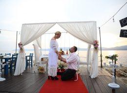 Evlilik Teklifi Organizasyonu-Sığacık'ta evlenme teklifi organizasyonu