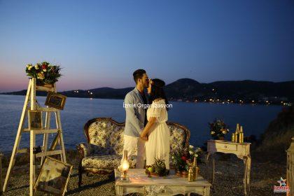 Vintage Dekor İle Evlilik Teklifi Organizasyonu İzmir Organizasyon