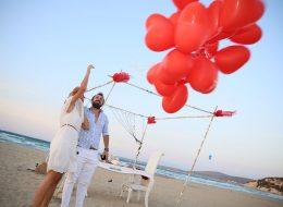 Akyaka Evlilik Teklifi Organizasyonu-Kumsalda evlenme teklifi organizasyonu