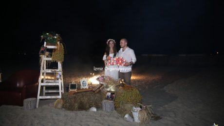 Çeşme Kumsalda Evlilik Teklifi Organizasyonu Gizem & Haktan
