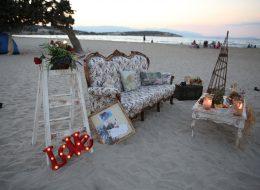 Evlenme teklifi organizasyonu-Vintage dekor ile evlenme teklifi organizasyonu