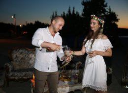 Plajda Çeşmede evlenme teklifi Organizasyonu