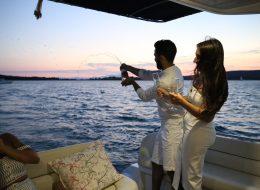 Ayvalık Teknede Havai Fişek Eşliğinde Evlilik Teklifi Organizasyonu Ceyda & Turaç
