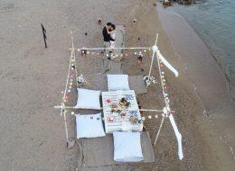 Kumsalda Evlenme Teklifi Organizasyonu Kuşadası