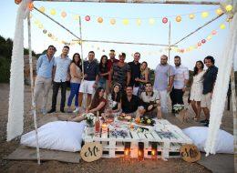 Plajda Arkadaşlarla Evlenme Teklifi Organizasyonu İzmir