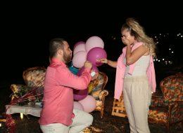 Kumsalda Romantik Evlilik Teklifi Organizasyonu