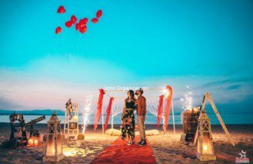 İstanbul Kumsalda Evlilik Teklifi Organizasyonu Paketi
