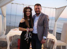 Ürkmez'de Plajda Evlenme Teklifi Organizasyonu Ebru & Yunus Çifti
