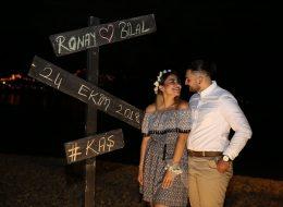 Kaş'da Havai Fişek Ve Kalp Dekor İle Evlilik Teklifi Organizasyonu