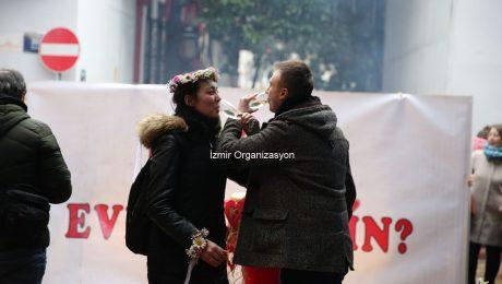 Tarihi Asansör'de Evlilik Teklifi Organizasyonu