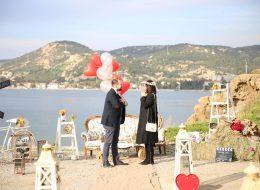Foça Deniz Feneri Evlenme Teklifi Organizasyonu