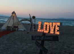 Kumsalda Rüya Kapanı Evlilik Teklifi Organizasyonu