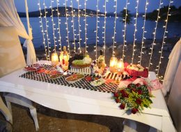 Marriage Anniversary Celebration On The Beach In Bodrum