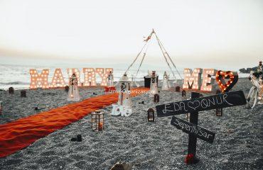Bostanlı Sunset Wedding Proposal Organization