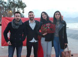 Karşıyaka Sahilde Evlilik Teklifi Organizasyonu Ayşenur & Serkan