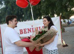 İzmir Yel Değirmenlerinde Romantik Evlenme Teklifi Organizasyonu İzmir Organizasyon