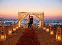 Kumsalda Evlilik Teklifi Organizasyonu Organizasyonu Gazebo Süsleme İzmir Organizasyon