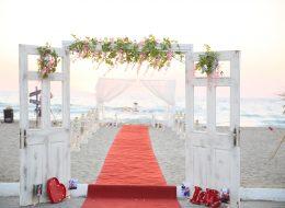 Kumsalda Evlilik Teklifi Organizasyonu Yürüyüş Yolu Dekorları İzmir Organizasyon