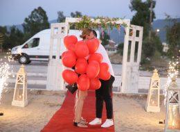 Aydın Kuşadası Evlenme Teklifi Organizasyonu Uçan Balonlar İzmir Organizasyon