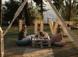 Aytepe'de evlilik teklifi organizasyonu
