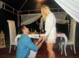 Bodrum Sürpriz Evlilik Teklifi Organizasyonu Diz Çökme Anı İzmir Organizasyon