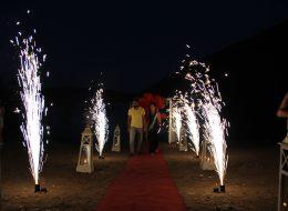 Kumsalda Evlenme Teklifi Organizasyonu Volkan Gösterisi İzmir Organizasyon