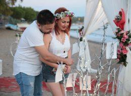 Çandarlı Kumsalda Evlenme Teklifi Organizasyonu