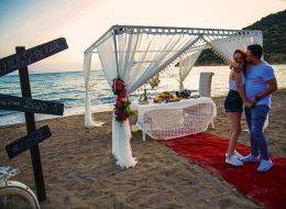 Çandarlı Kumsal Evlilik Teklifi Organizasyonu