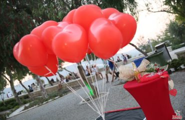 İzmir Çeşme Evlenme Teklifi Organizasyonu Uçan Balon Süsleme İzmir Organizasyon