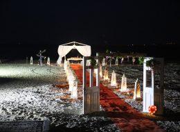 İzmir Plaj Evlenme Teklifi Organizasyonu Kapı ve Yürüyüş Yolu Süsleme İzmir Organizasyon