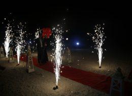 Plajda Evlenme Teklifi Organizasyonu Yer Volkanı Gösterisi İzmir Organizasyon