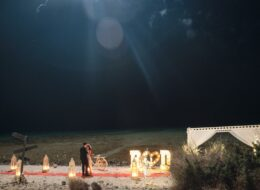 Deliklikoy Kumsalda Evlilik Teklifi Organizasyonu