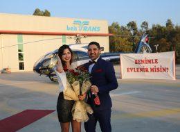 İzmir Helikopterde Sürpriz Evlilik Teklifi Organizasyonu İzmir Organizasyon