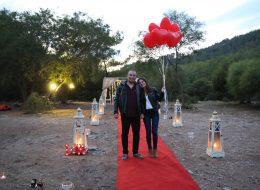 Plajda Evlenme Teklifi Organizasyonu Uçan Balonlar İzmir Organizasyon