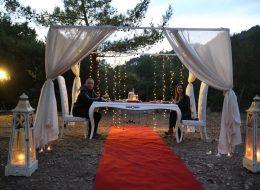 Cennet Koyu Evlenme Teklifi Organizasyonu İzmir Organizasyon