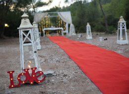 Bodrum Romantik Evlenme Teklifi Organizasyonu Yürüyüş Yolu Süsleme İzmir Organizasyon