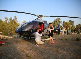 Helikopterle Evlenme Teklifi Organizasyonu Evlilik Teklifi Anı İzmir Organizasyon