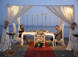 İstanbul'da Kumsalda Evlenme Teklifi Organizasyonu