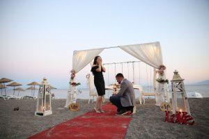 İstanbul Kumsalda Evlilik Teklifi Organizasyonu