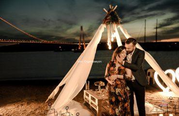 Çimlerde Postmodern Evlilik Teklifi Organizasyonu
