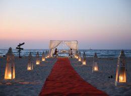 Çeşme Kumsalda Evlilik Teklifi Organizasyonu Yön Tabelası ve Yürüyüş Yolu İzmir