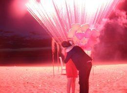 Havai Fişek Gösterisi ve Kumsalda Evlilik Teklifi Organizasyonu İzmir