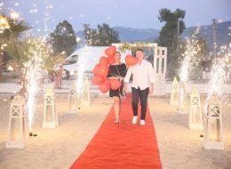 Kumsalda Sürpriz Evlilik Teklifi Organizasyonu Yer Volkanları İzmir