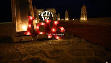 Sürpriz Evlilik Teklifi Organizasyonu Denizci Fenerleri ve Yer Volkanları