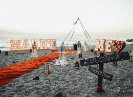 Marry Me Işıklı Harflerle Evlilik Teklifi