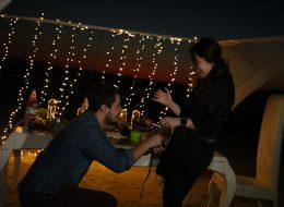 Kumsalda Romantik evlilik Teklifi Anı İzmir Organizasyon