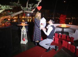Lüks Restoranda Evlilik Teklifi Organizasyonu Paketi