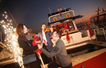 Mutluluk Teknesinde Evlilik Teklifi Organizasyonu İzmir